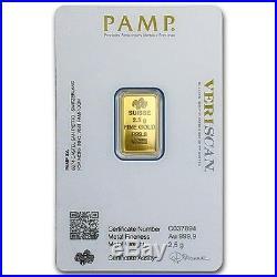PAMP Suisse Fortuna 2.5g Gram Fine Gold Bar Bullion 999.9