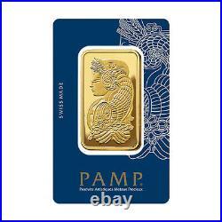 PAMP Suisse Fortuna 50 gram. 999 Fine Gold Bar SEALED IN VERISCAN ASSAY CARD