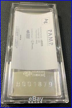 PAMP Suisse Fortuna 500 gram 1/2 kilo. 999 Fine Silver Bar in Capsule with Assay