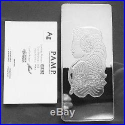 PAMP Suisse Fortuna 500g. 999 Fine Silver Bar Certified Assayer