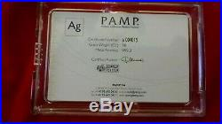 PAMP Suisse Lady Fortuna 10 oz. 999 Silver Bar with Case & COA