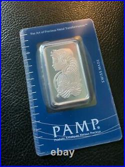 PAMP Suisse Lady Fortuna 1oz Platinum Bar. 9995 Fine SEALED IN ASSAY CARD