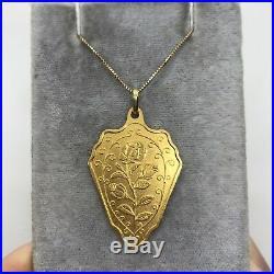 PAMP Suisse fine gold bar 999.9 24k pendant 10g bullion shield rose medallion