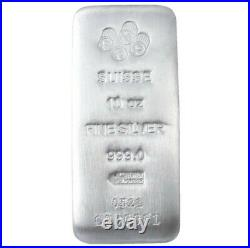 PRE-SALE 10 oz PAMP Suisse Silver Cast Bar. 999 Fine Silver -Assay Card