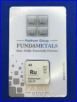 Pamp Fundametals Ruthenium 1/2 Troy Oz Swiss Assay Bar