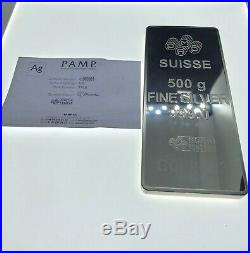 Pamp Lady Fortuna Suisse Silver Bar 500g