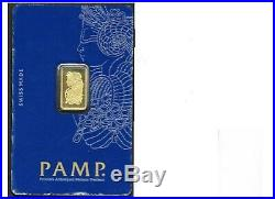 Pamp Suisee 2.5 Gram 24kt. 999 Pure Gold Ingot Bar with Veriscan Technology