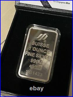 Pamp Suisse 1 Oz Merlion Singapore Mint