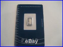 Pamp Suisse 1 gram Palladium Bar Sealed with Assay Cert! 99.95% Brand New