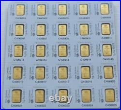 Pamp Suisse 10 gm (10x1g) gold bar