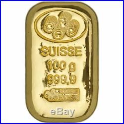 Pamp Suisse 100 gram Gold Cast Bar