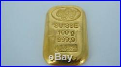 Pamp Suisse 100g 999.9 Gold Bar