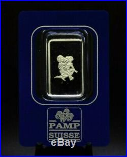 Pamp Suisse 10g Gold Gemini Zodiac Design Bar in Assay Holder 079DUD