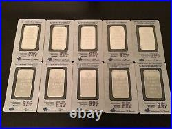 Pamp Suisse 1oz Lady Fortuna Fine Silver Bars 10x Total Package Lot 100% Real