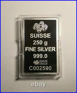Pamp Suisse 250 Gram Fortuna Silver Bar (with certificate)