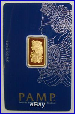Pamp Suisse 5 Gram. 9999 Fine Gold Fortuna Bullion Bar