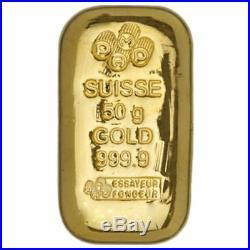 Pamp Suisse 50 gram Gold Cast Bar