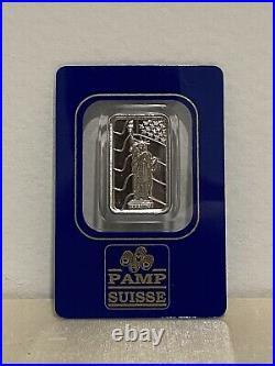Pamp Suisse 5g Statue of Liberty Bar Palladium Extra Rare Low Mintage