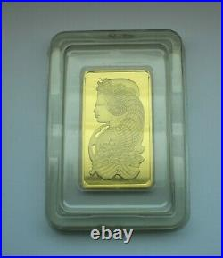 Pamp Suisse 999.9 Fine Gold Bar Lady Fortuna 5oz. WITH CERTIFICATE ASSAY#006574