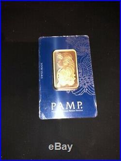 Pamp Suisse Fortuna 1 oz Gold Bar Sealed In Assay