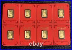 Pamp Suisse Gold 8 Gram Card Lunar Year Of The Rat 2020 Bar Sealed Assay 999.9