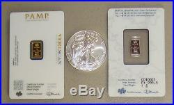 Pamp Suisse Gold Silver & Platinum Precious Metals Pack 2019 American Eagle