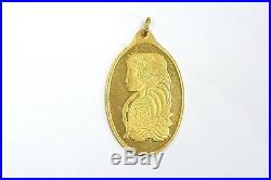 Pamp Suisse Half Ounce 24k Fine Gold Oval Shaped Bar Pendant with 24k Gold Bail