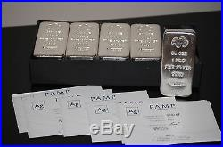 Pamp Suisse Silver 1 Kilo Bar 999.0 Fine Silver With Assay Card