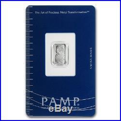 Pure Platinum 1gram Lady Fortuna Pamp Suisse 14kt Gold Pendant $112.88