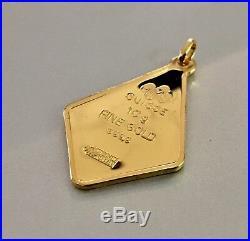 RARE! PAMP SUISSE 10g gram 24k Fine Gold bar pendant God Krishna Playing Flute
