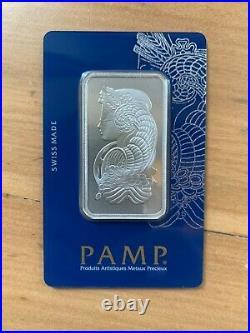 RARE! PAMP Suisse 1oz (31.10g) Rhodium Bar Certificate Number C002073