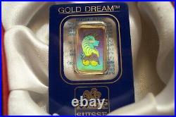 Rare Gold Bar 2.5 Gram Hologram Fortuna Pamp Suisse 24kt 999.9 Goldlqqkk