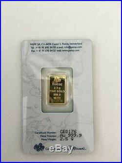 Rare Pamp Suisse Legendary Gold Rushes of the World Australia (1851) -2.5 gram