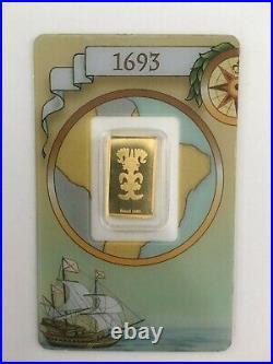 Rare Pamp Suisse Legendary Gold Rushes of the World Brazil (1693) 2.5 gram