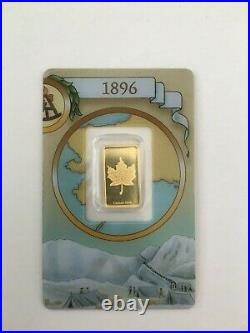 Rare Pamp Suisse Legendary Gold Rushes of the World Canada (1896) 2.5 gram