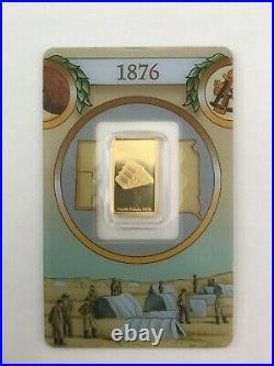 Rare Pamp Suisse Legendary Gold Rushes of the World USA (1876) 2.5 gram