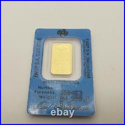 Rare Pamp Suisse Pure 999.9 Statue of Liberty with Flag 5 Gram Gold Bar Sealed