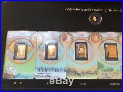 Rare Pamp Swiss Gold Assay Card Legendary Gold Rushes Of The World