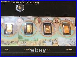Rare Pamp Swiss Gold Assay Card Legendary Gold Rushes Of The World LAST ONE