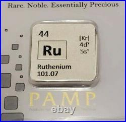 SUPER RARE 1/2 Oz RUTHENIUM PAMP SUISSE Bar In Assay