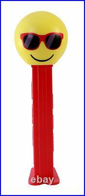 Set of 6 Pamp Pez Wafers Chillin Sunglasses Emoji Dispenser 5 g Silver PRESALE