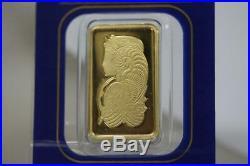 Solid 24K Gold Bar PAMP Credit Suisse 10 Gram 0.9999 Fortuna Assay Bar# 330286