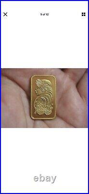 Solid 24K Gold Bar PAMP Credit Suisse 20 Gram 999.9 Bar SN# C087358