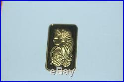 Solid 24K Gold Bar PAMP Credit Suisse 20 Gram 999.9 Bar SN# C087358-No case
