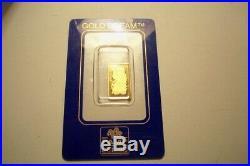 Super Rare Wrong Case Pamp Suisse Fortuna 2.5 Gram Mint Sealed Gold Dream Bar