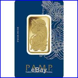 Ten (10) 1 oz PAMP Suisse Gold bars new in assay cards FREE shipping