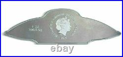UFO 2020 Solomon Islands 1oz Silver Bar Coin. 9999 PAMP SUISSE New in Box with COA