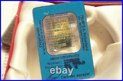 Very Rare 2.5 Gram Hologram Fortuna Pamp Suisse 24kt Gold Bar 999.9 Small Case