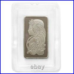 Vintage Assay 10 oz PAMP Suisse Lady Fortuna Platinum Bar. 9995