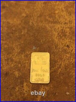 Vintage Pamp Suisse 1oz Silver Bar & 1 Gram Gold Bar Lady Fortuna Rare